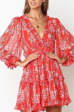 Chikas Red Floral Dress - Product List Image
