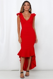 Chikas Red Hi-Low Dress - Front cropped
