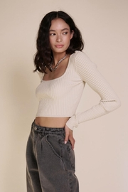 Chikas Ribbed Crop Top - Product Mini Image
