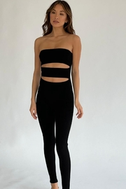 Chikas Ribbed Cut-Out Jumpsuit - Product Mini Image