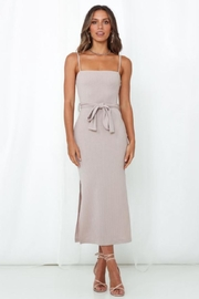 Chikas Ribbed Midi Dress - Product Mini Image