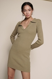 Chikas Ribbed Mini Dress - Product Mini Image