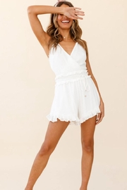 Chikas Ruffle Trim Romper - Front cropped