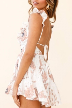 Chikas Ruffled Floral Romper - Alternate List Image
