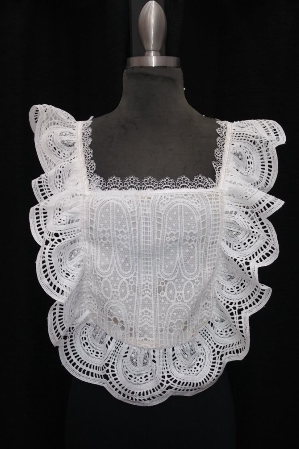 Chikas Ruffled Lace Top - Front Cropped Image