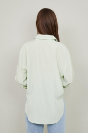 Chikas Sage Button-Down Top - Front full body