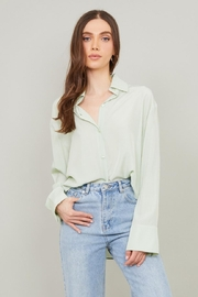 Chikas Sage Button-Down Top - Product Mini Image