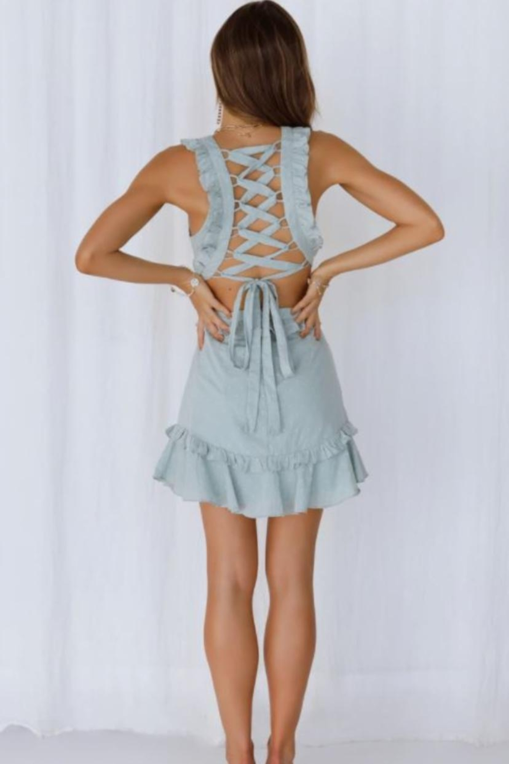 Chikas Side Cut-Out Dress - Front Full Image