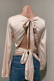 Chikas Silky Champagne Top - Front full body