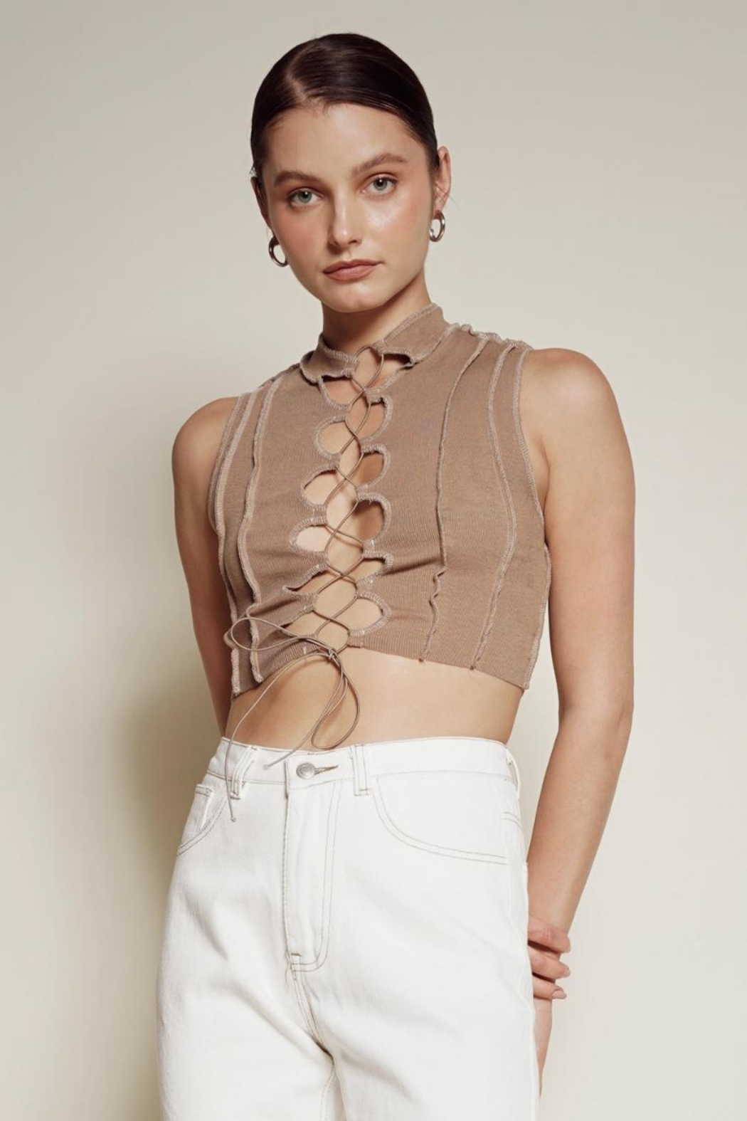 Chikas Stitched Crop Top - Main Image