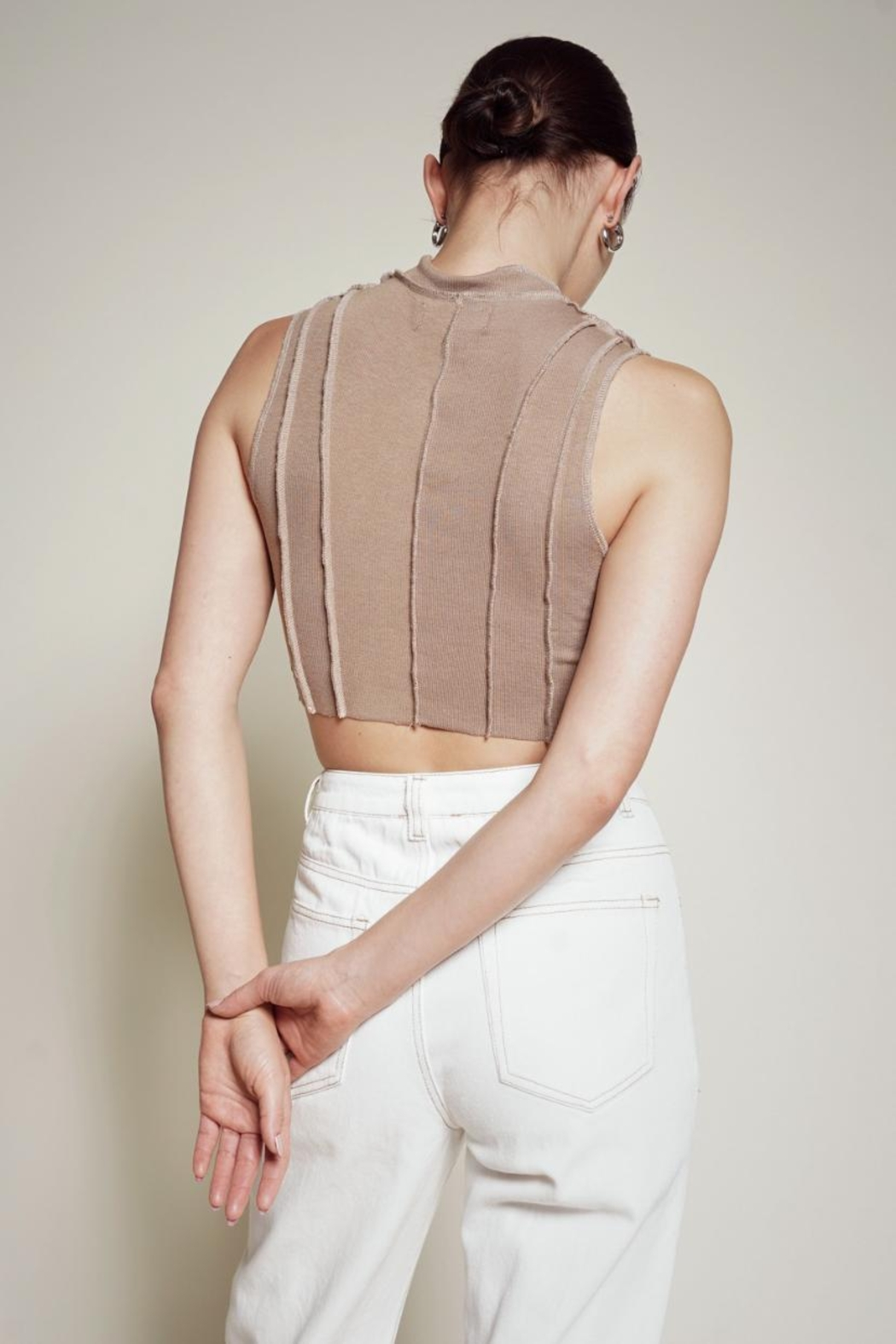 Chikas Stitched Crop Top - Front Full Image