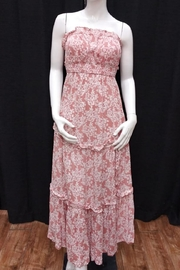 Chikas Strapless Floral Dress - Front cropped