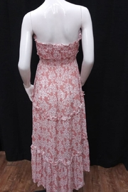 Chikas Strapless Floral Dress - Front full body