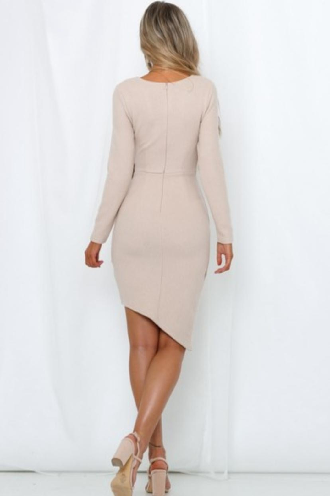 Chikas Sweater Midi Dress - Side Cropped Image