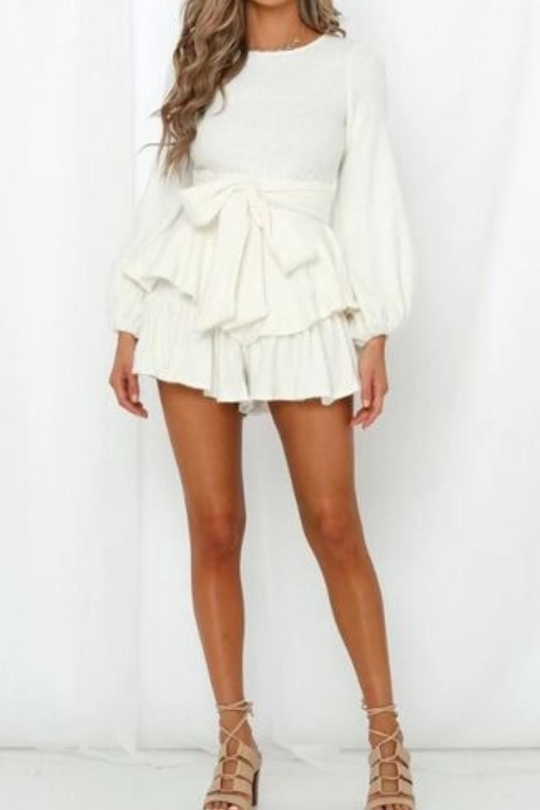Chikas Sweater Romper - Front Cropped Image
