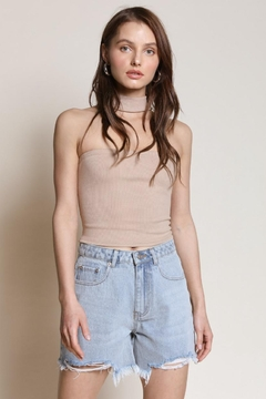 Chikas Taupe Crop Top - Product List Image