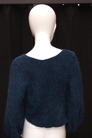Chikas Teal Blue Sweater - Front full body