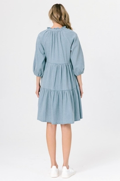 Chikas Tiered Denim Dress - Alternate List Image
