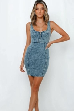 Chikas Washed Denim Dress - Product List Image