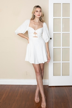 Chikas White Cut-Out Dress - Product List Image