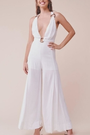 Chikas White Halter Jumpsuit - Front cropped