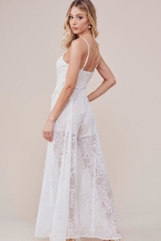 Chikas White Lace Jumpsuit - Side cropped