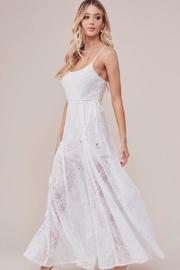 Chikas White Lace Jumpsuit - Front full body
