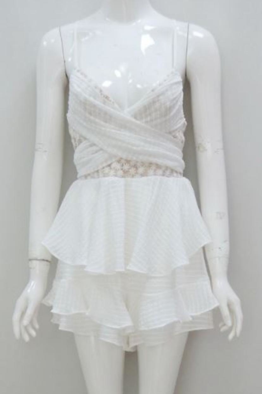 Chikas White Mini Dress - Main Image