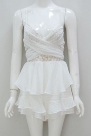Chikas White Mini Dress - Front cropped