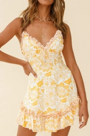 Chikas Yellow Floral Dress - Product Mini Image