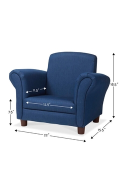 Melissa and Doug Child's Armchair - Denim - Alternate List Image