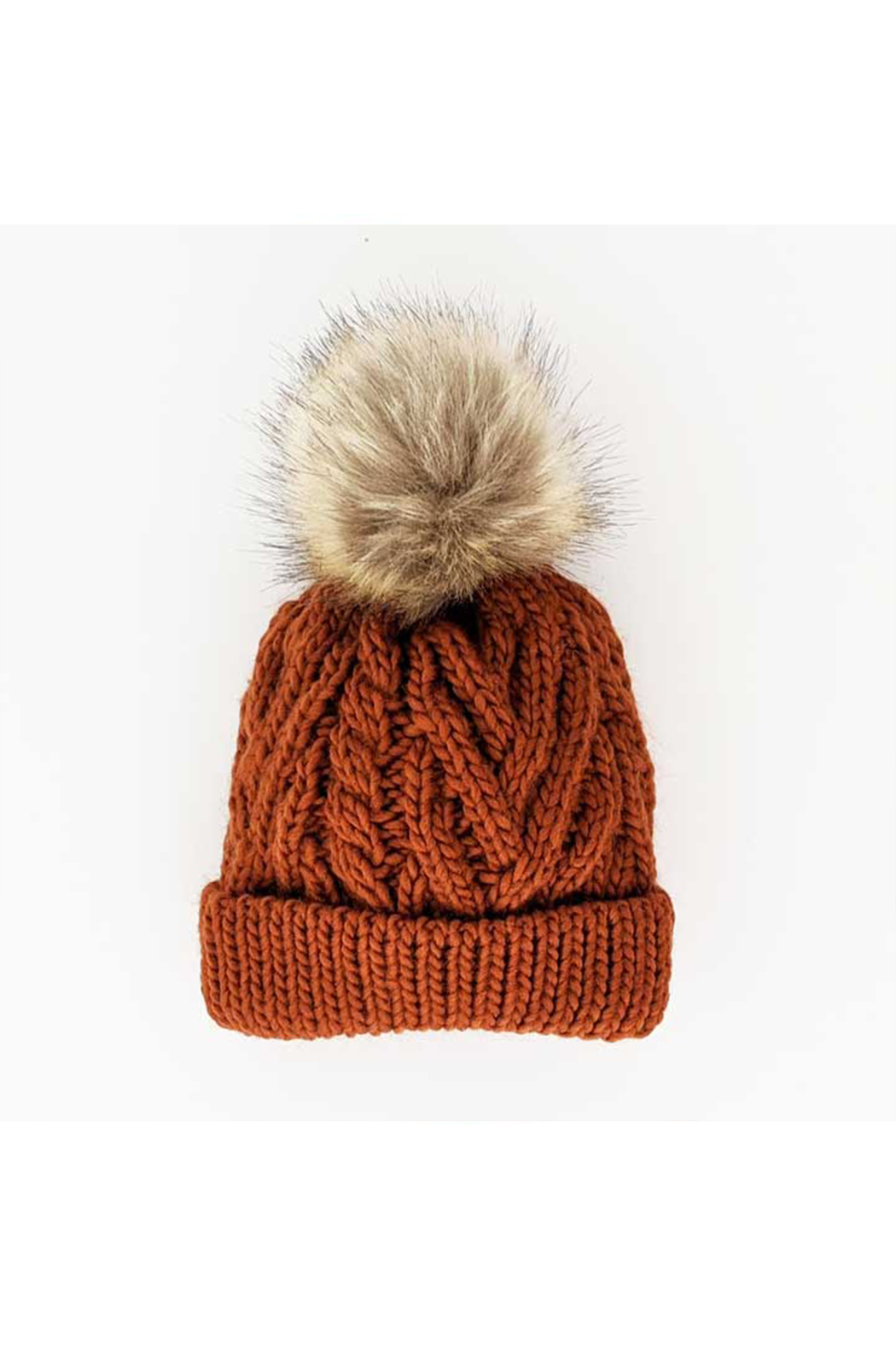 Huggalugs Chili Pom Pom Beanie Hat - Front Full Image