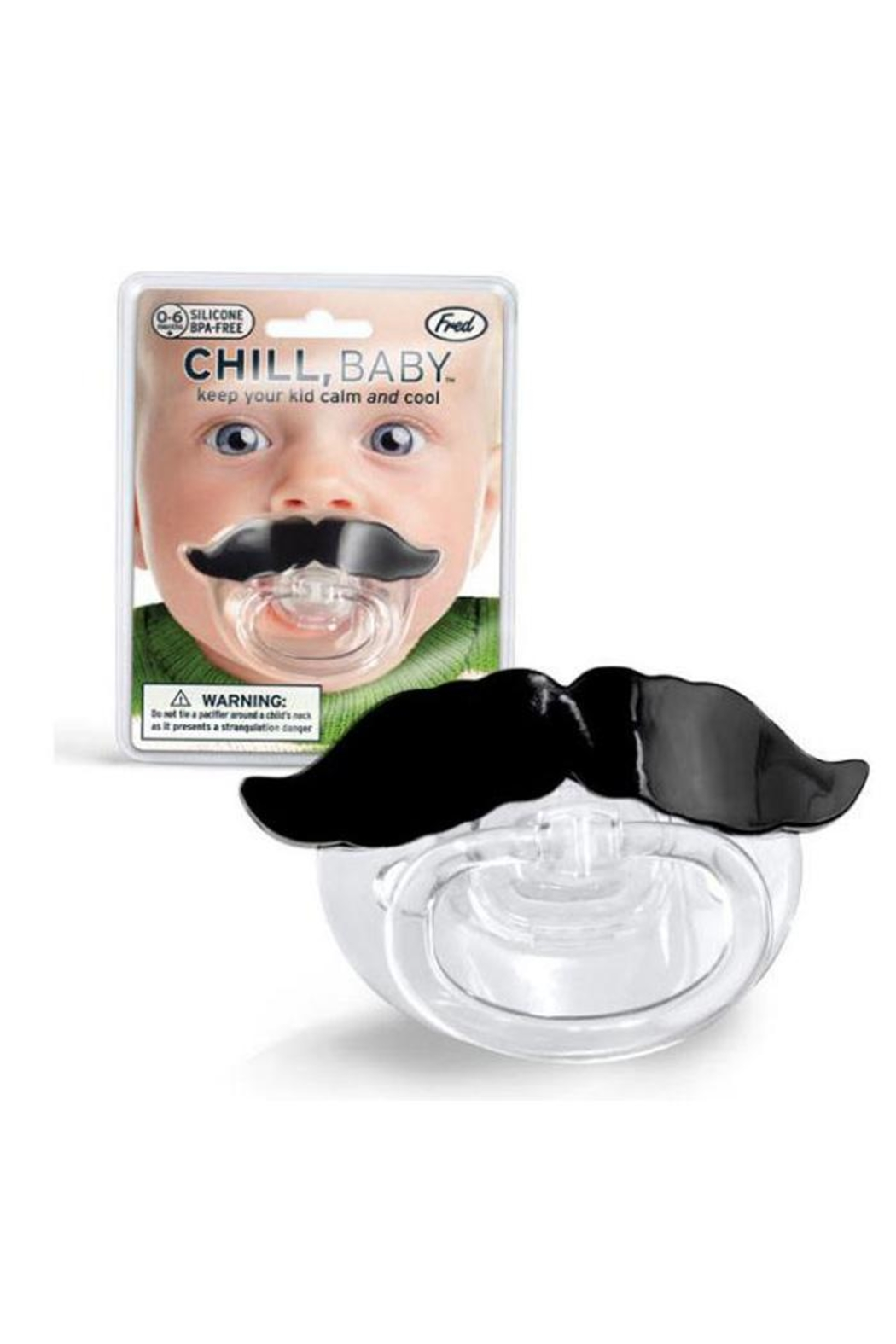 Fred & Friends Chill Baby Pacifier - Front Full Image