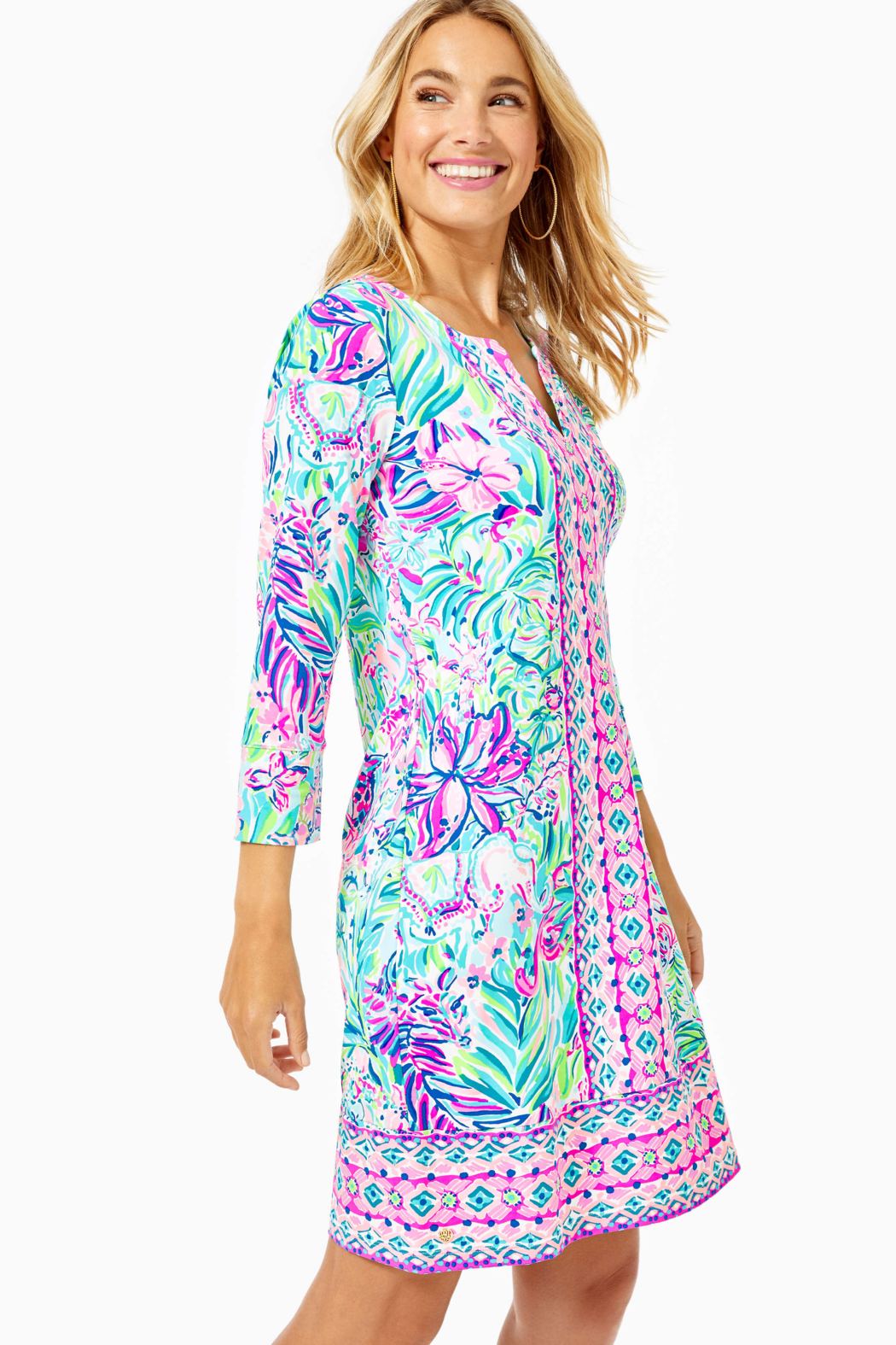 Lilly Pulitzer  Chilly Lilly Nadine Dress UPF 50+ - Side Cropped Image