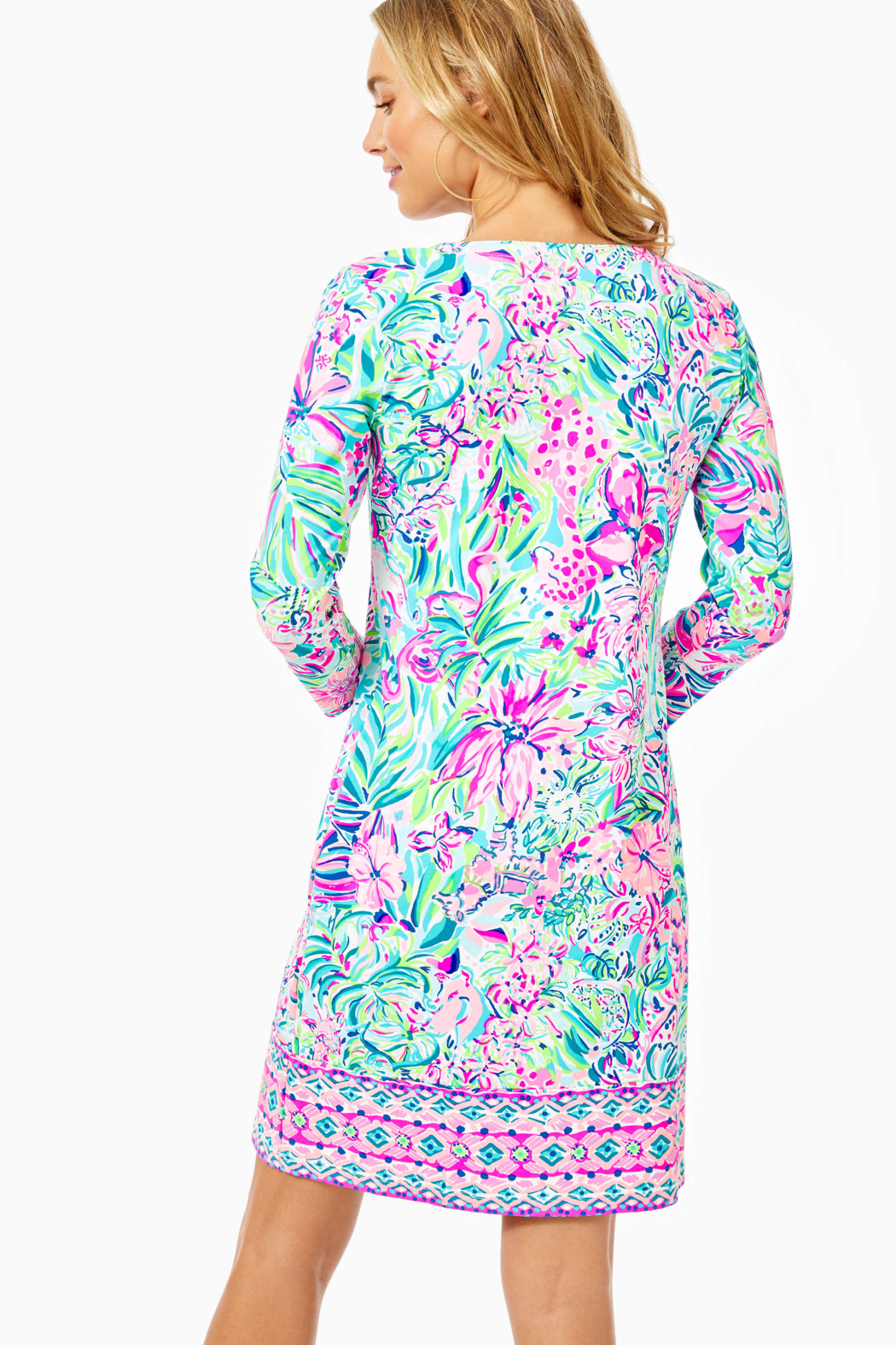 Lilly Pulitzer  Chilly Lilly Nadine Dress UPF 50+ - Front Full Image