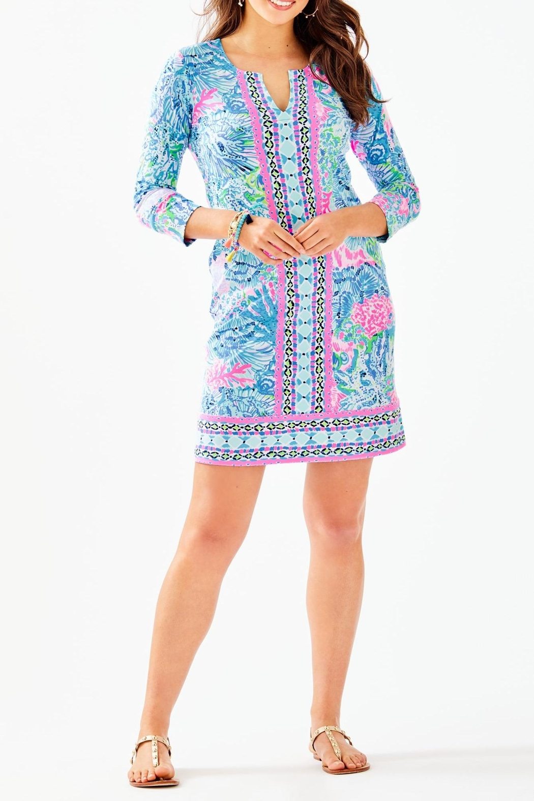 Lilly Pulitzer Chillylilly Nadine Dress - Back Cropped Image