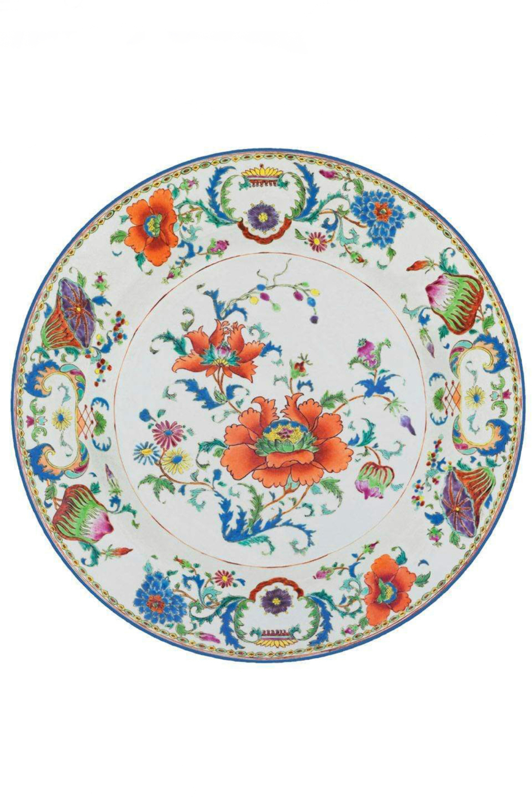 Caspari Chinese Ceramic Die-Cut Placemats (single placemat) - Front Cropped Image