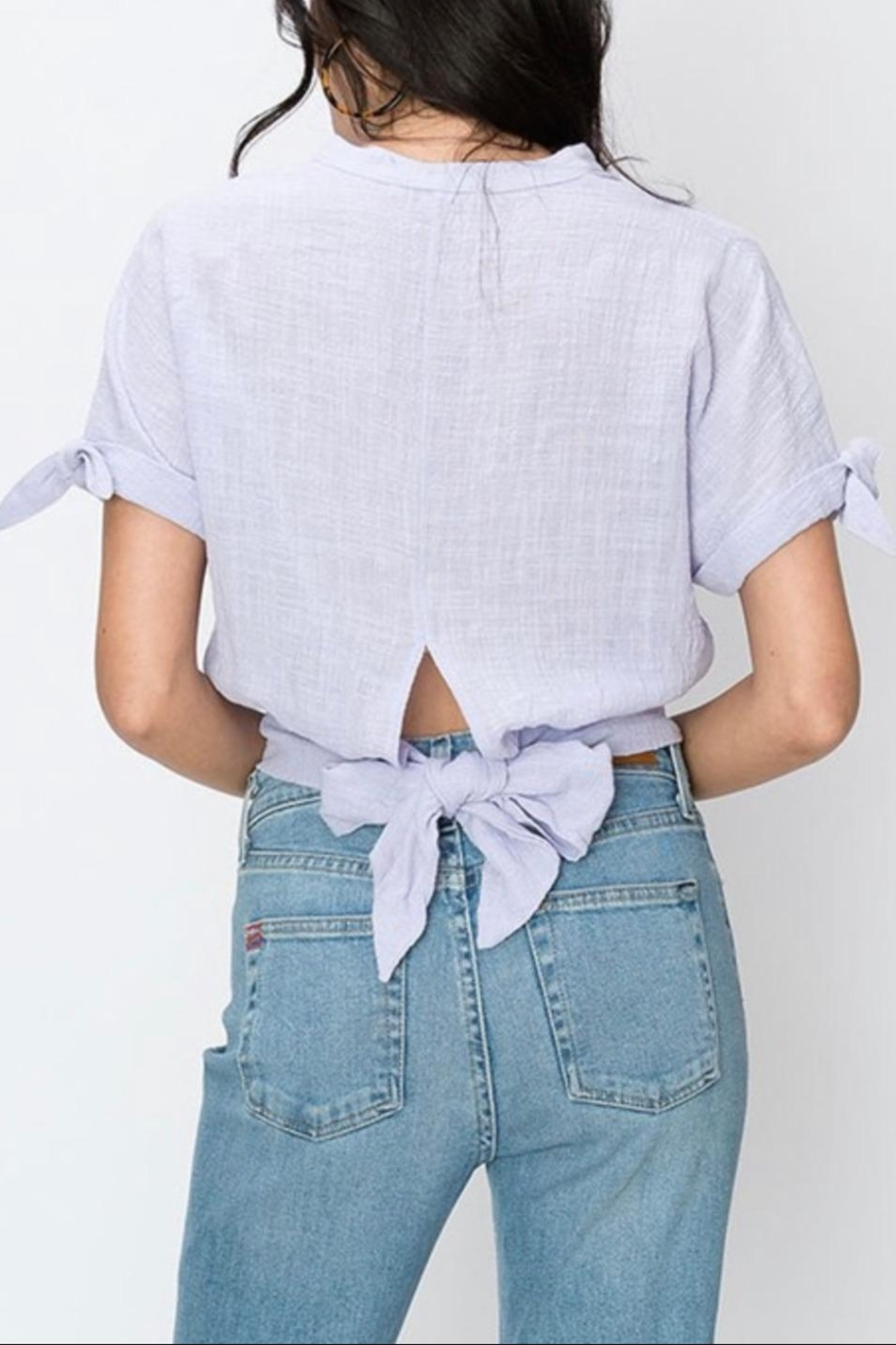 Favlux Chinese Collar Blouse - Side Cropped Image