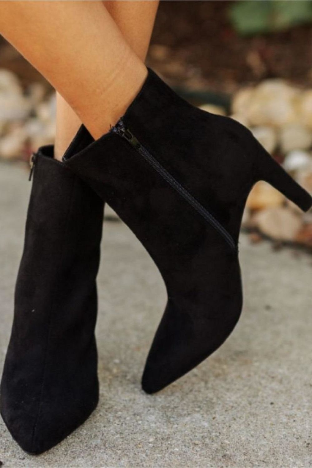 Chinese Laundry Black Suede Bootie - Main Image