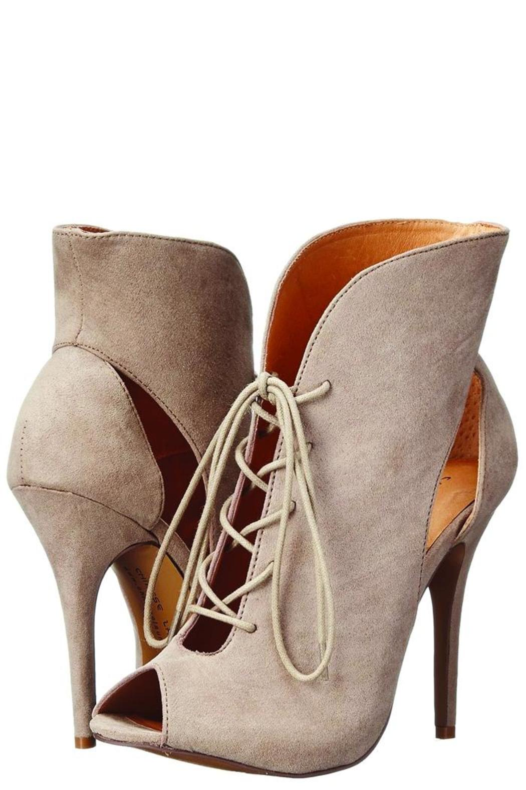 Chinese Laundry Julius Taupe Heel - Front Full Image
