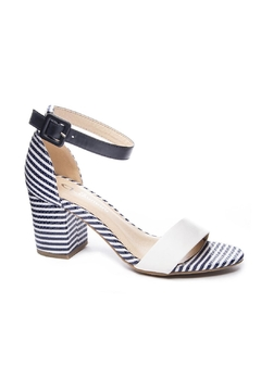 Shoptiques Product: Navy Stripe Heel