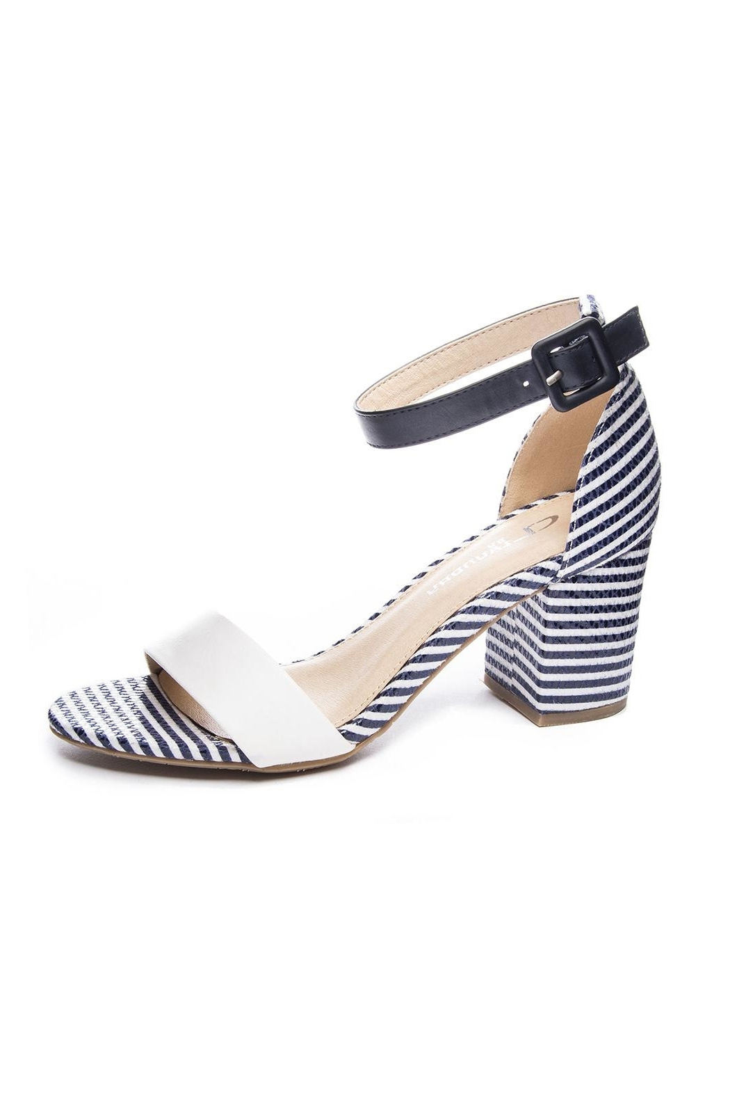 7ea0ee8c2197 Chinese Laundry Navy Stripe Heel from New York by Dor L Dor — Shoptiques