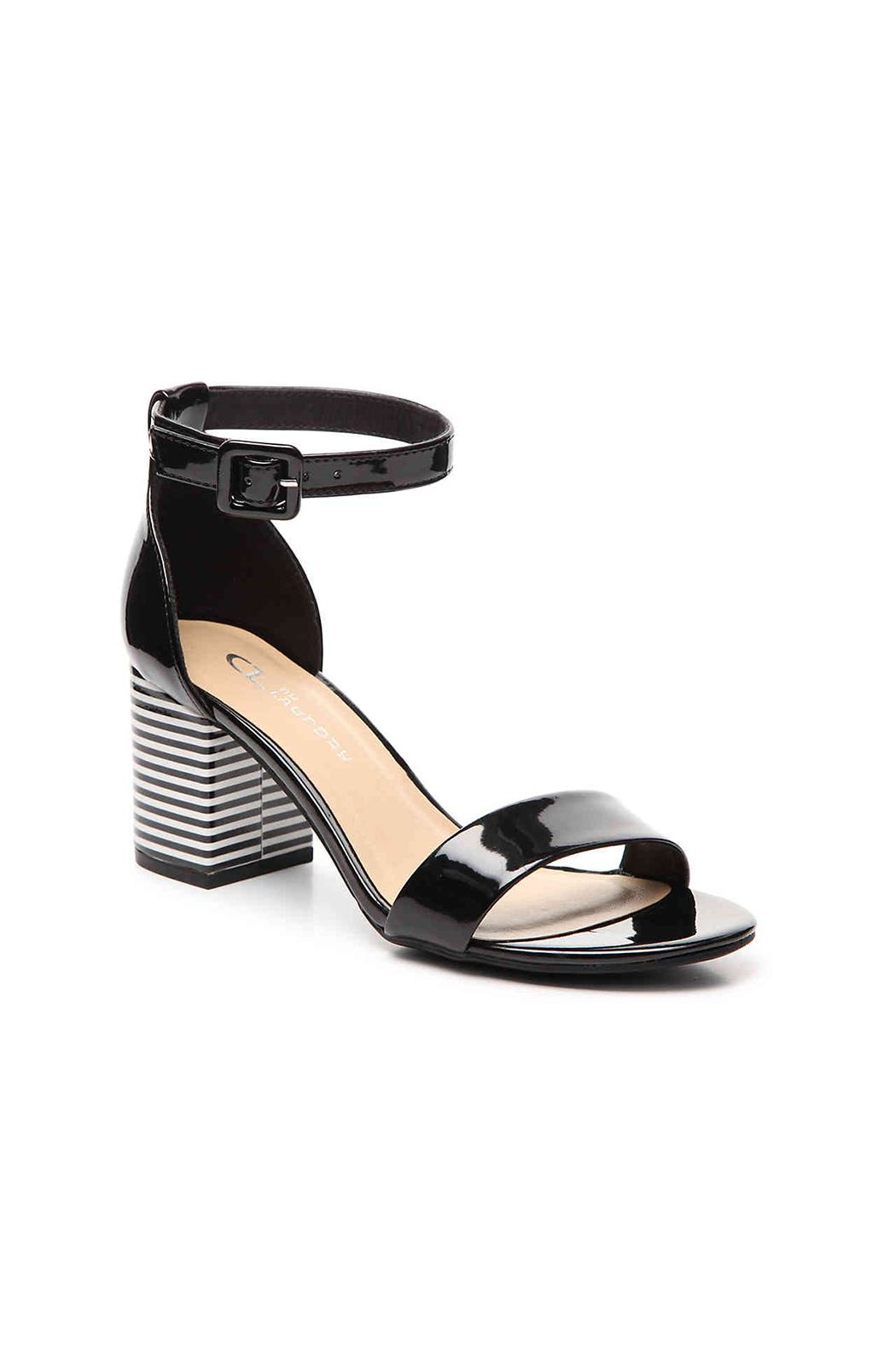 Chinese Laundry Stripe Block Heel - Front Cropped Image