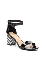 Chinese Laundry Stripe Block Heel - Front cropped