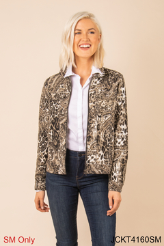 Simply Noelle Chino Snake Print Jacket - Product List Image