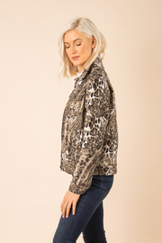 Simply Noelle Chino Snake Print Jacket - Side cropped