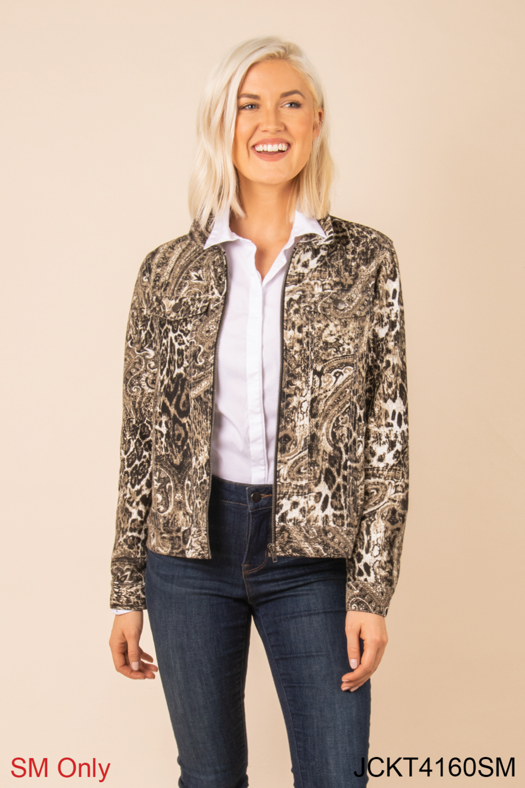 Simply Noelle Chino Snake Print Jacket - Main Image