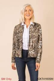 Simply Noelle Chino Snake Print Jacket - Front cropped