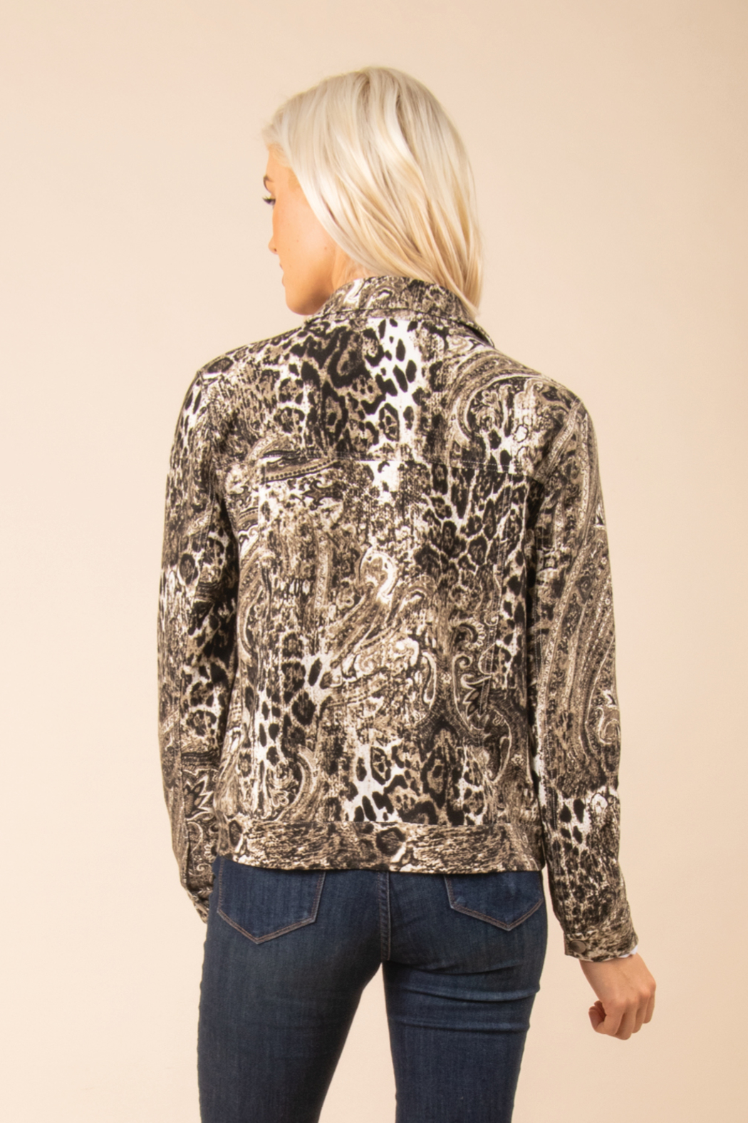 Simply Noelle Chino Snake Print Jacket - Front Full Image