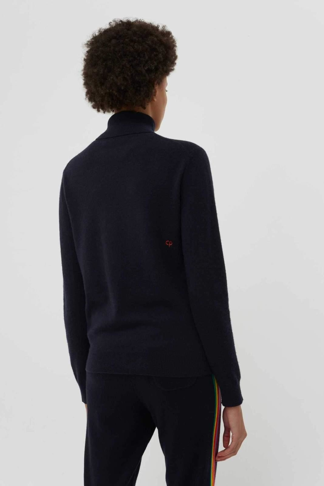 Chinti & Parker Rainbow Ski Rollneck - Front Full Image